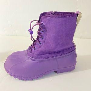 Natives jimmy junior rain boots purple 11